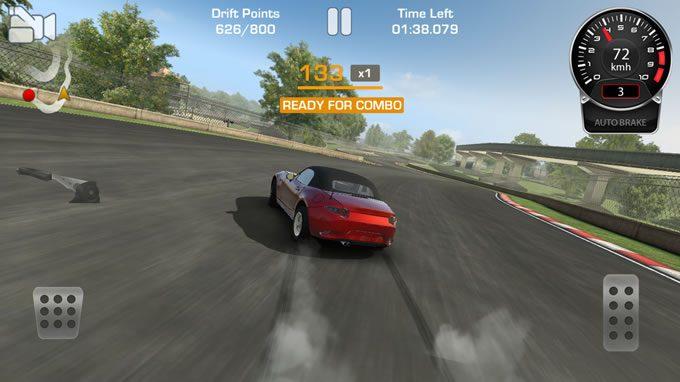 ドリフトゲームアプリCarX Drift Racing操作方法